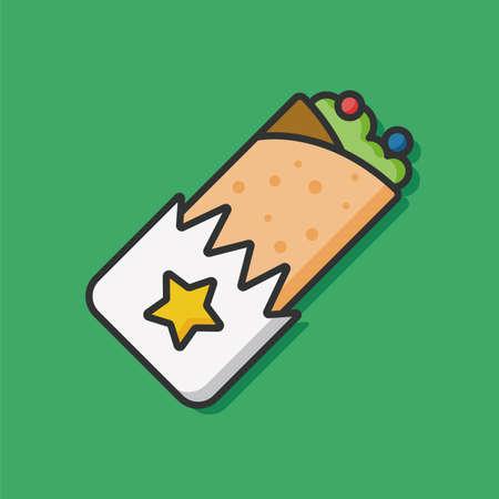 wrap vector: food wrap vector icon