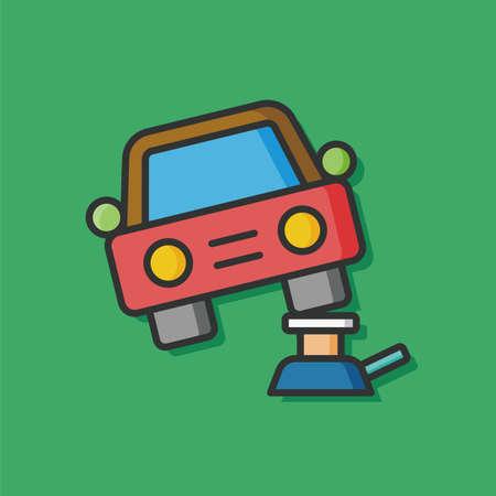 screw jack: Car jack vector icon Illustration