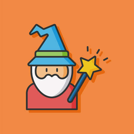 wicked set: wizard hat vector icon