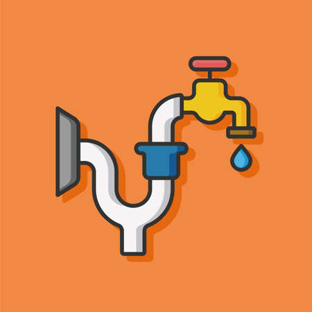sewer water: Water pipe vector icon