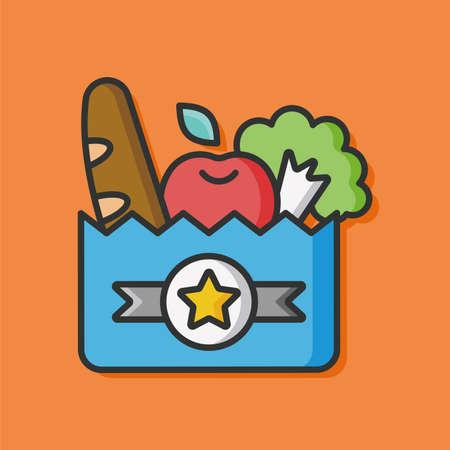 shopping bag vector: shopping bag vector icon