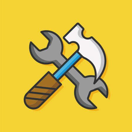 screwdrivers: Screwdrivers tool vector icon Illustration