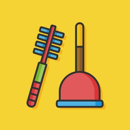 sanitary: sanitary plunger vector icon