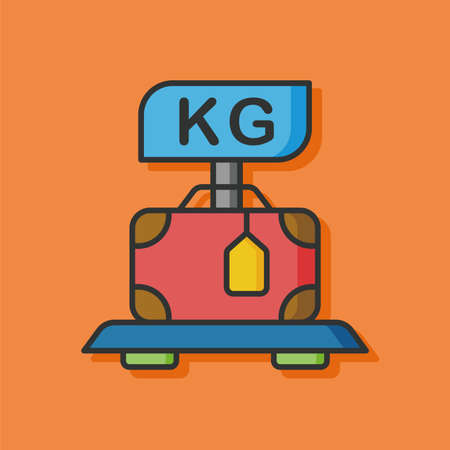 airport luggage: airport luggage vector icon