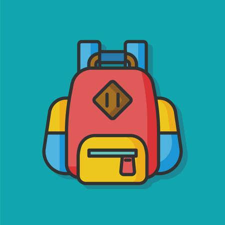 mochila de viaje: viajes icono vector de la mochila Vectores