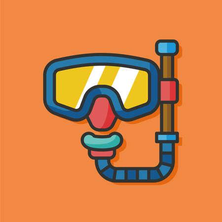 goggle: goggle mask vector icon