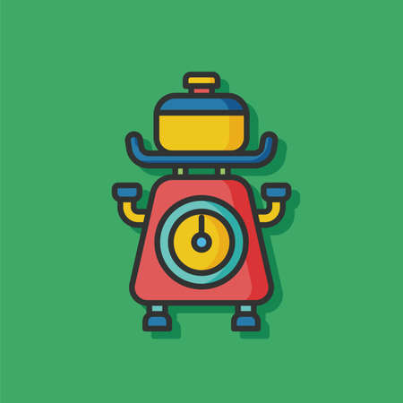 counterweight: Weighing machine vector icon