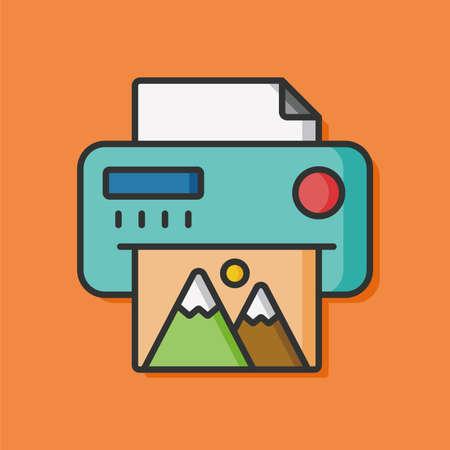 office printer vector icon