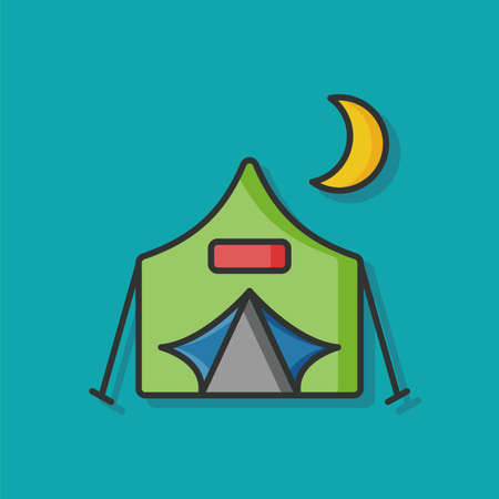 tent vector: camp tent vector icon