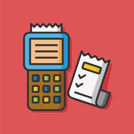 receipt: logistic receipt vector icon