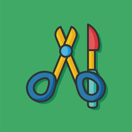 scalpel: surgery scalpel scissors icon