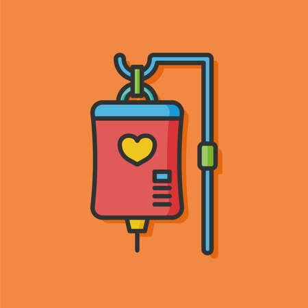 iv drip: medical drip vector icon