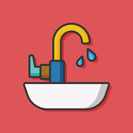toilet sink: toilet Sink vector icon Illustration