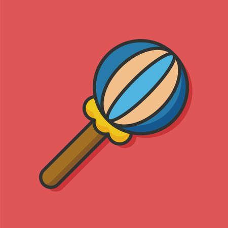 sonaja: Bebé del traqueteo del icono del vector Vectores