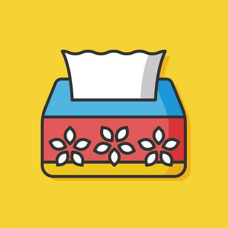 sanitary towel: tissue paper vector icon Illustration
