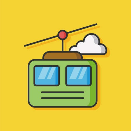 cable car: cable car vector icon