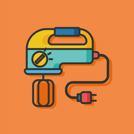 batidora: kitchenware beater vector icon Vectores