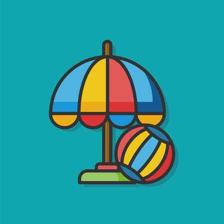 patio furniture: vacation lounge vector icon