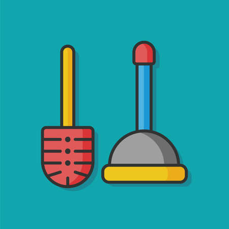 plunger: sanitary plunger vector icon