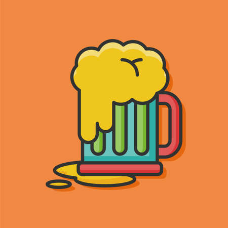 draught: beer drink vector icon