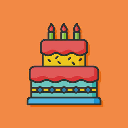 birthday cakes: birthday cake vector icon Illustration