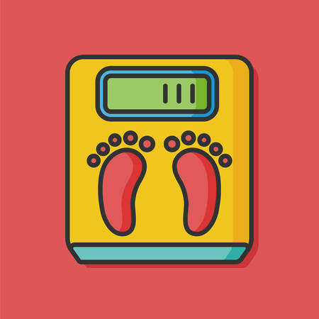 weighing machine: Weighing machine vector icon
