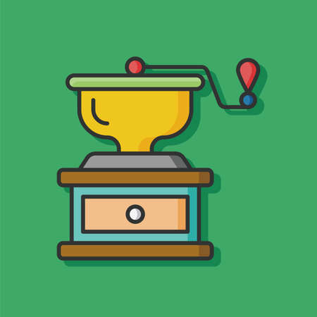 grinder: coffee grinder vector icon