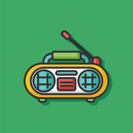 equipo de sonido: icono del vector de radio estéreo
