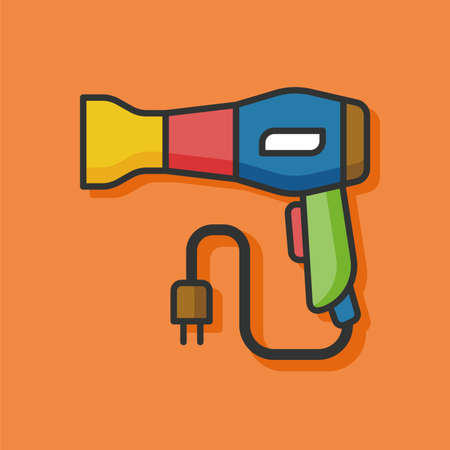 blow drier: Hair dryer vector icon