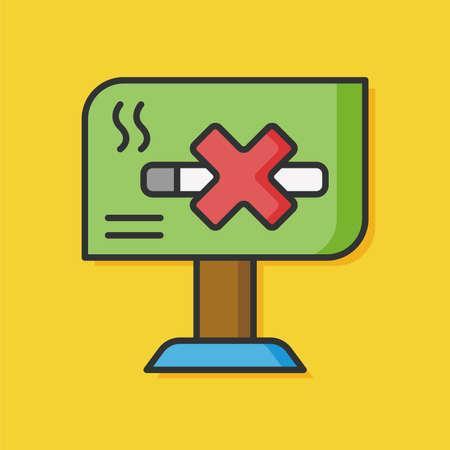flight board: airport information board no smoking icon