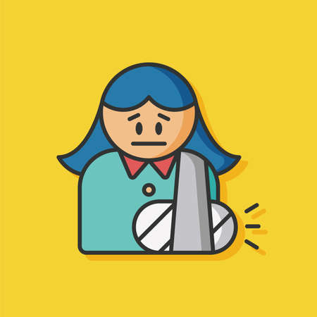 hospital patient: hospital patient vector icon