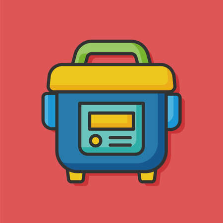 cooker: rice cooker vector icon