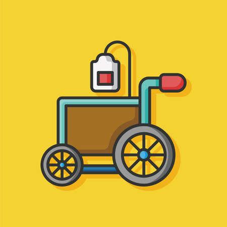 hospital Wheelchair vector icon