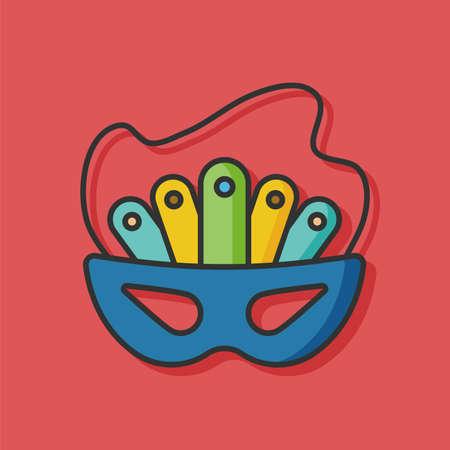 birthday party: birthday party mask icon