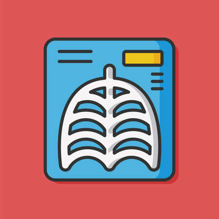 radiography: X-rays medical vector icon