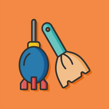 blower: camera blower tool icon Illustration