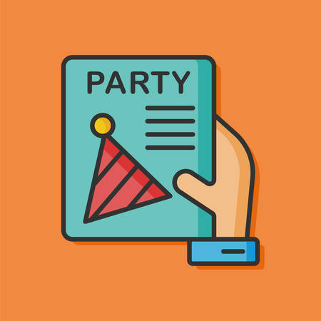 birthday party: birthday party card icon Illustration