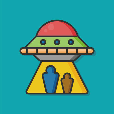 starship: space ufo vector icon