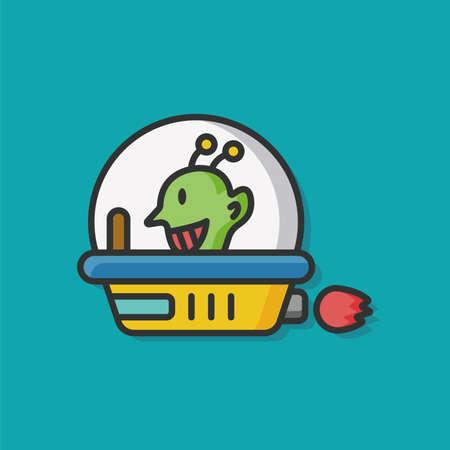 ufos: space ufo vector icon