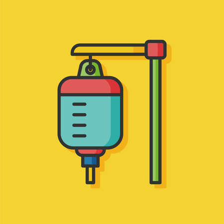 doses: medical drip vector icon