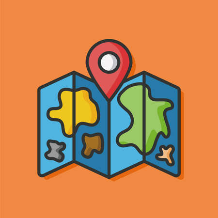 gps map: GPS map vector icon