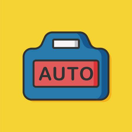 Camera autofocus vector icon
