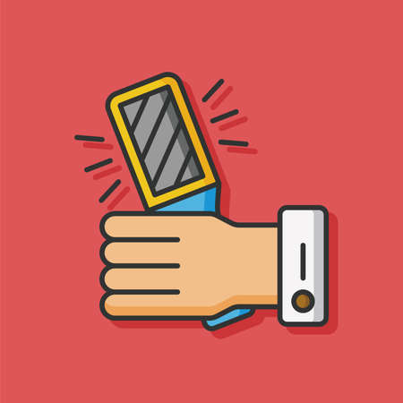 security icon: Security scanner vector icon