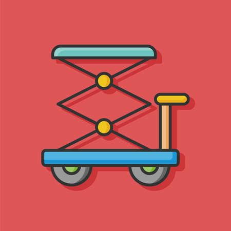 lifting jack: lifting jacks vector icon Illustration