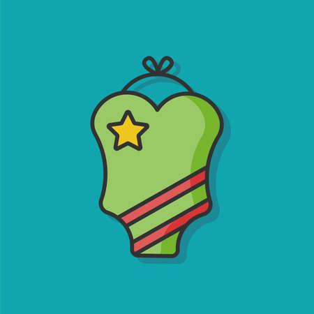 girl bra: swimming bikini vector icon Illustration