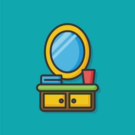 closet: bathroom mirror closet icon