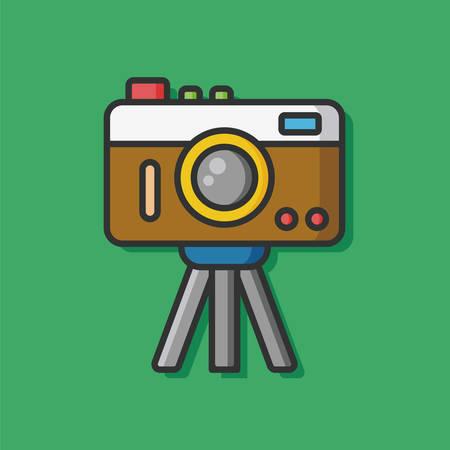 camera film: film camera vector icon