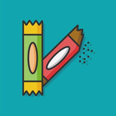sweetener: sugar bag vector icon Illustration