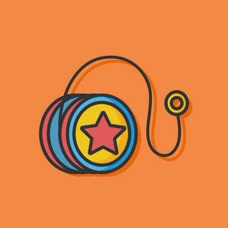 play yoyo: toy yoyo vector icon