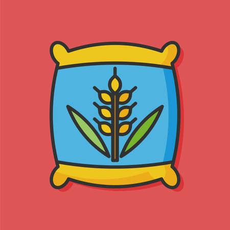 white phosphorus: farm fertilizer vector icon